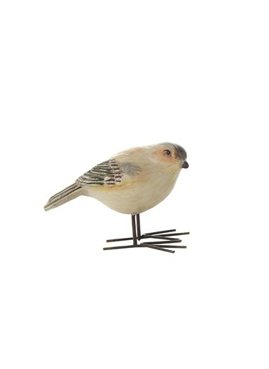 Warm Design Kuş Dekoratif Obje Kahve